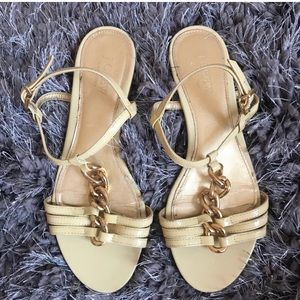 J Crew Sandals gold yellow Italy size 7